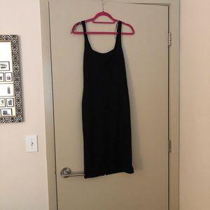 NWT Zara Black Midi Dress - Bodycon - Size L